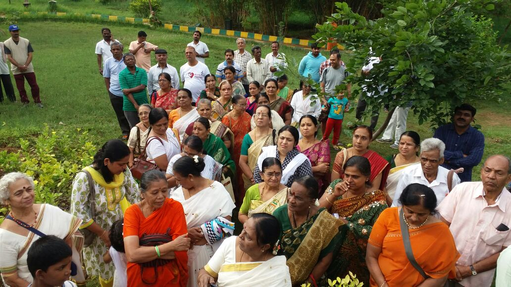 Ganesh Mandir Ward residents gathered for Independence day celebration