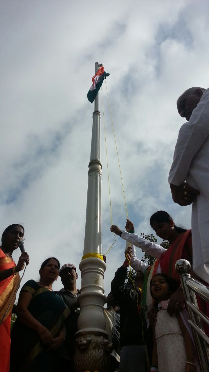 Indian Flag hoisting
