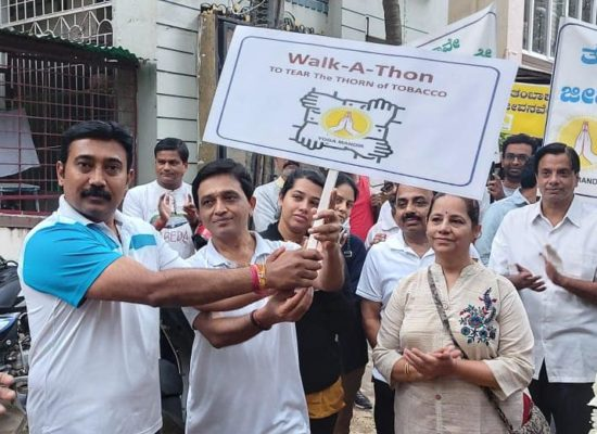 Walkathon to tear the thorn of tobacco