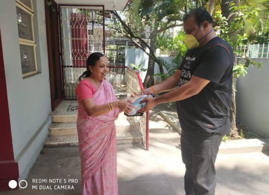 Today 3 rd day distributed for senior citizen medicine, vegetables & food on
